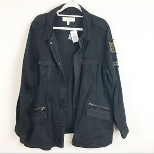 torrid Jackets & Coats - NWT Torrid Black Utility Beaded Jacket Size 3